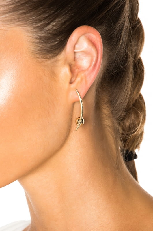 Wassonfine Crescent Sphere Earrings