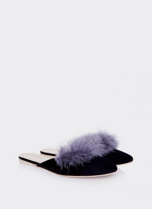 Valencia Gray Furry Flats