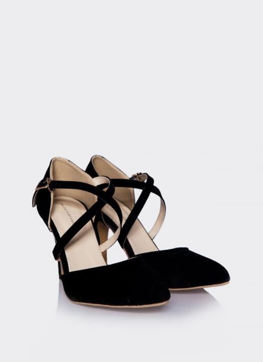 Valencia Black Croos Heels
