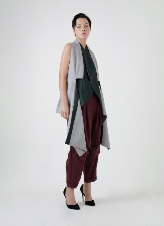 Amanda Rahardjo Light Gray Gallant Vest