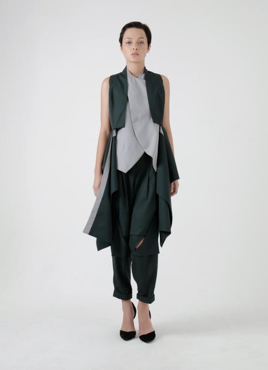 Amanda Rahardjo Dark Green Gallant Vest
