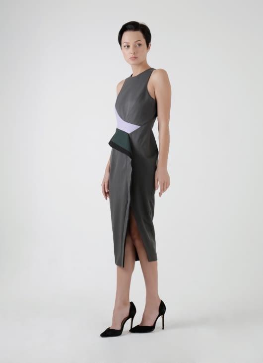 Amanda Rahardjo Dark Gray Iridescent Dress