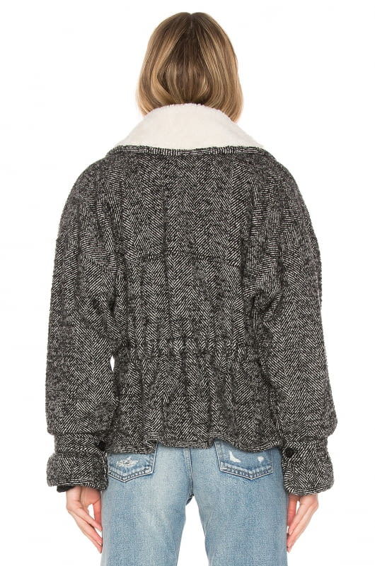 Marissa Webb Annalise Herringbone Boucle Jacket