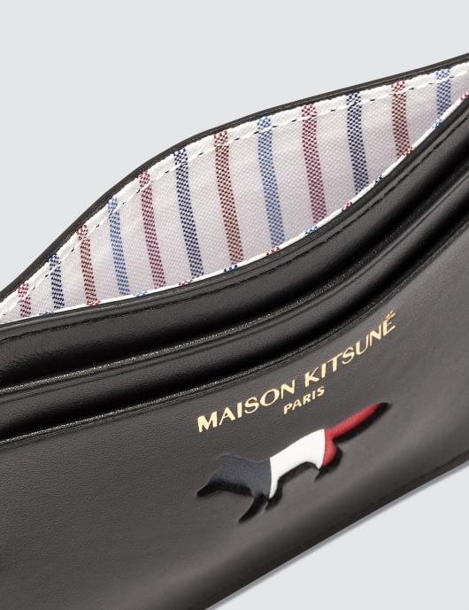MAISON KITSUNE Tricolor Fox Leather Card Holder