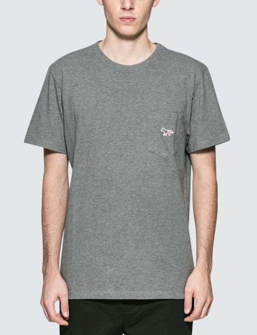 MAISON KITSUNE America Fox Patch S/S Pocket T-Shirt