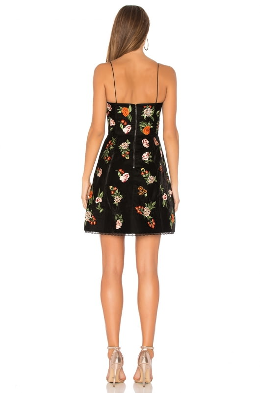 Alice + Olivia Launa Embroidered Dress