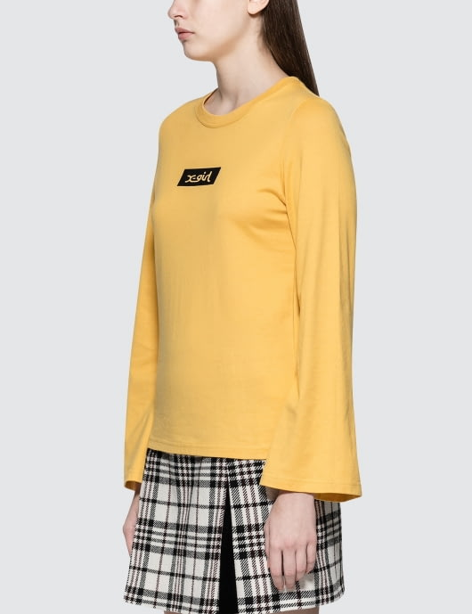 X-Girl Flare Sleeve Box Logo L/S T-Shirt