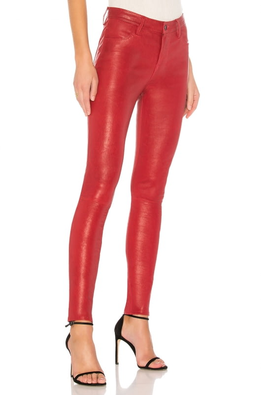 J Brand Maria High Rise Leather Pant