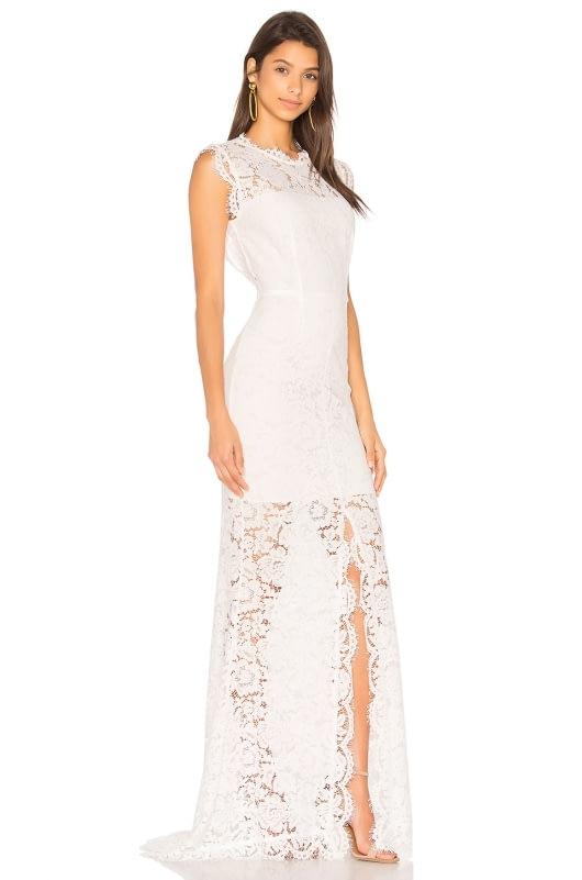 RACHEL ZOE Estelle Cut out Back Maxi Dress