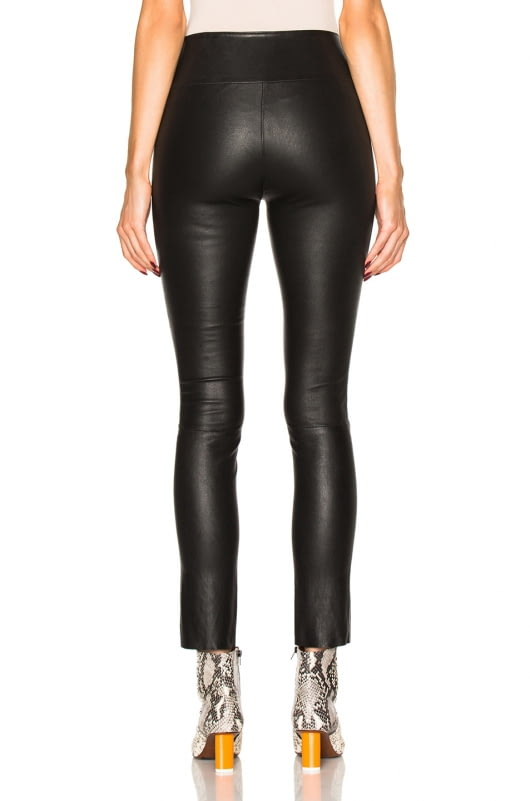 SPRWMN High Waist Leather Ankle Leggings