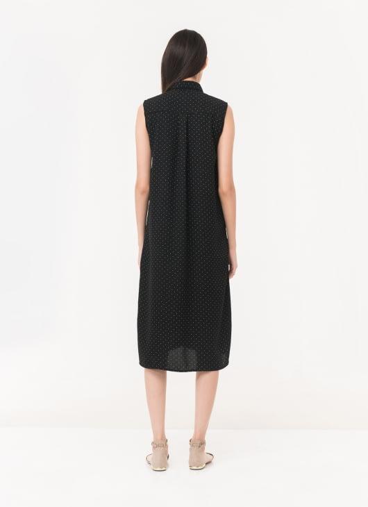 Mono Earth Black Polka Sabrina Shirtdress