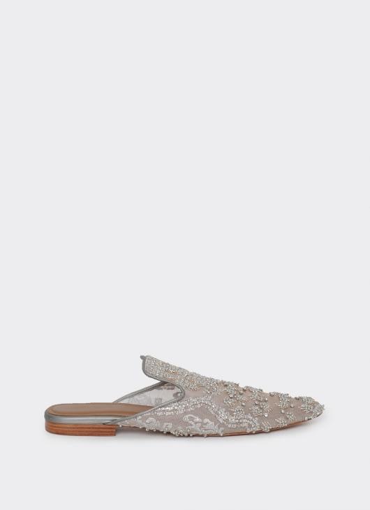 saptodjojokartiko Gray Embellished Mules