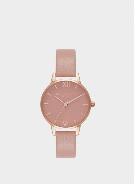 Olivia Burton Dusty Pink & Rose Gold OB16MD77 Rose Petal Dial Watch