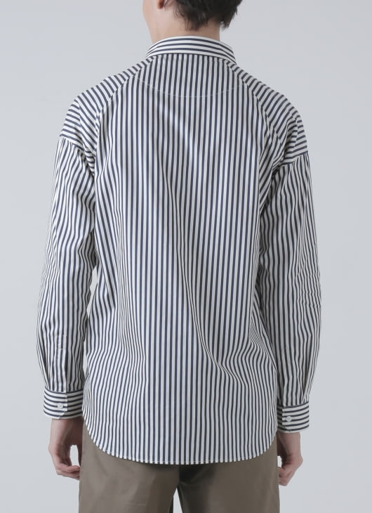 Moussa Blue Stripe Yuki Shirt