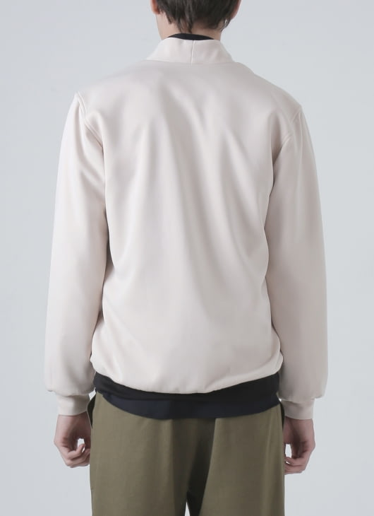 jan sober Cream Scuba Jacket