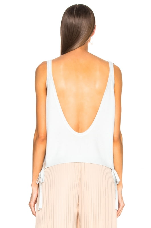 Soyer Gia Cashmere Tie Crop Top