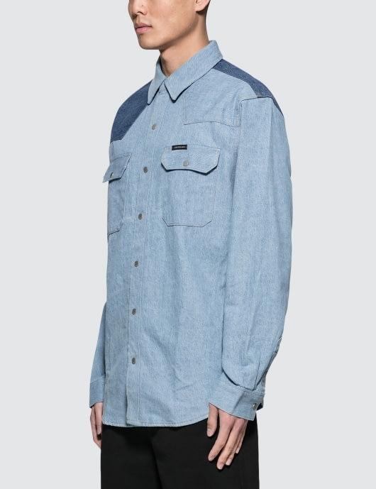 Calvin Klein Jeans Archive Western Blocked Denim Shirt