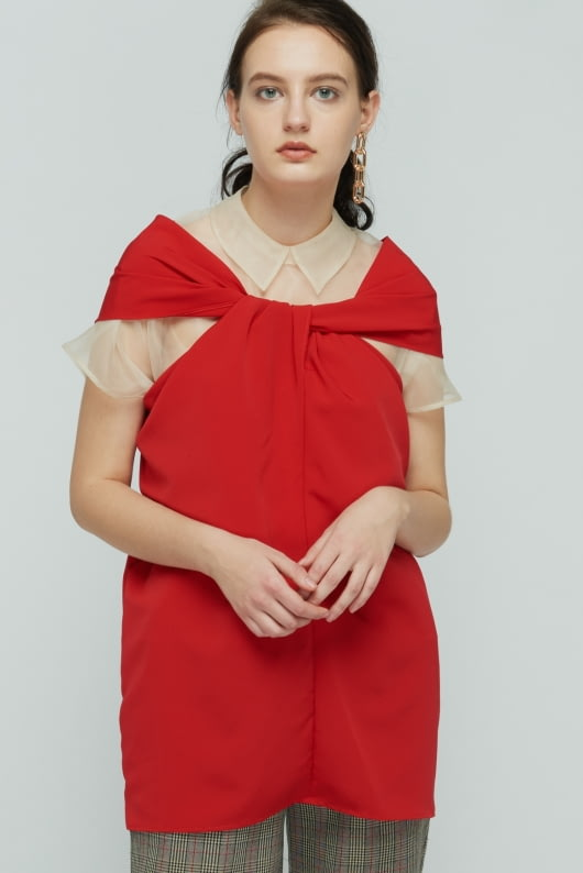 Shopatvelvet Red Wishful Top