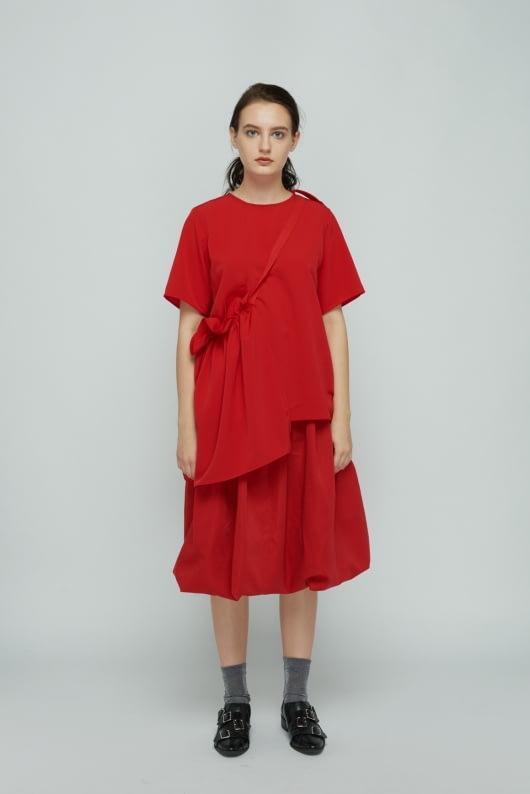 Shopatvelvet Red Petal Top