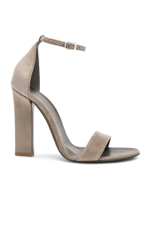 Victoria Beckham Suede Anna Ankle Strap Heels