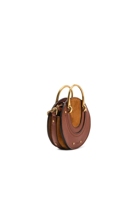Chloe Mini Pixie Shiny Goatskin, Calfskin & Suede Double Handle Bag