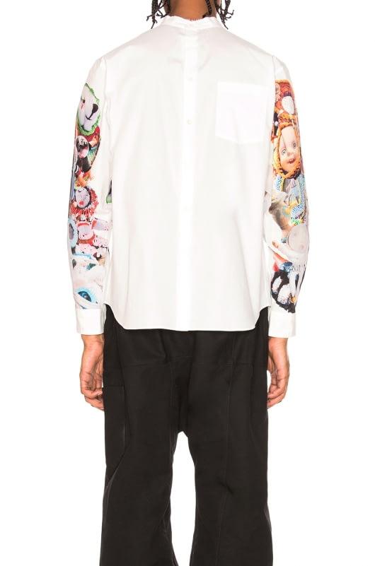 Comme Des Garcons Homme Plus Broad Ink Jet Print Shirt