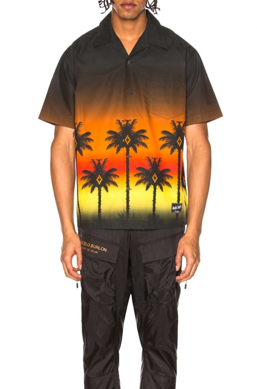 Marcelo Burlon Red Palm Shirt