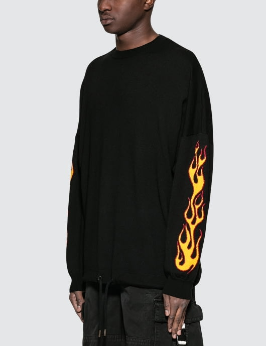 Palm Angels Palms and Flames Sweater