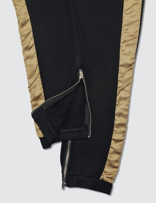 Profound Aesthetic Dusted Gold Stripe Sweatpants