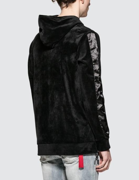 Profound Aesthetic Velour Sleeve Stripe Hoodie