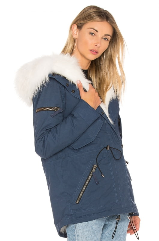 SAM. Mini Luxe Parka with Fox Fur and Asiatic Raccoon Fur