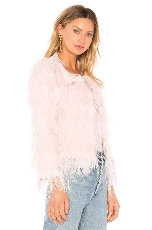Norma Kamali All Over Feather Jacket