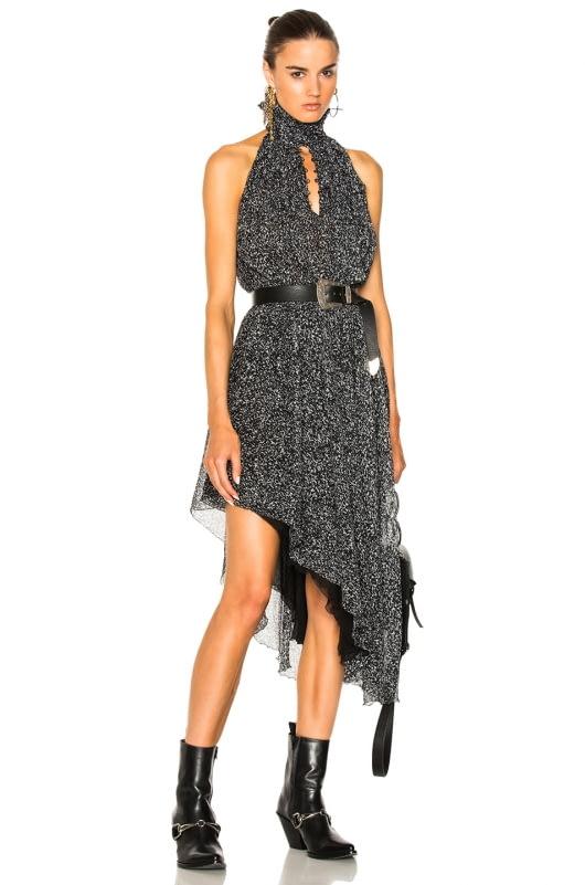 Redemption Animalier Print Asymmetric Dress