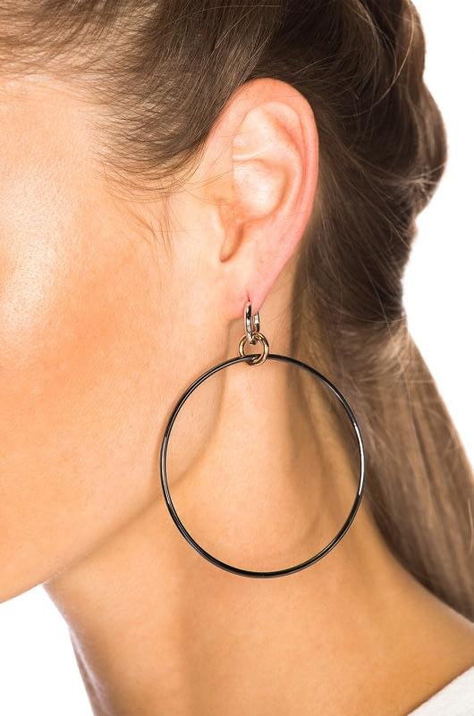 Spinelli Kilcollin Altraire Noir Hoop Earrings