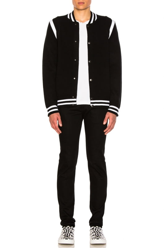 Givenchy Logo Back Knit Bomber