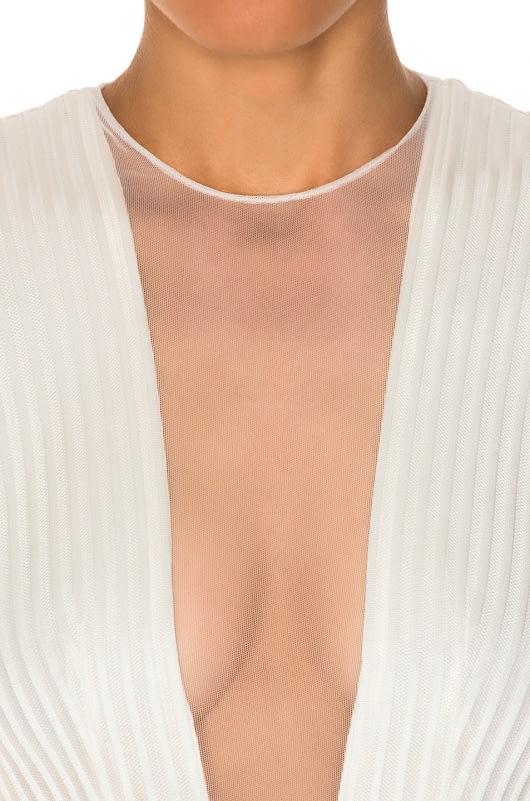 GALVAN Tuxedo Plunge Jumpsuit