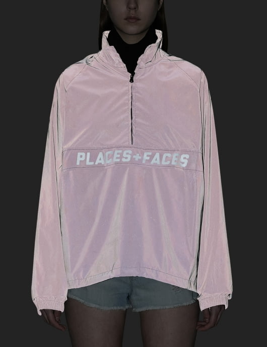 Places + Faces Reflective Zip Up