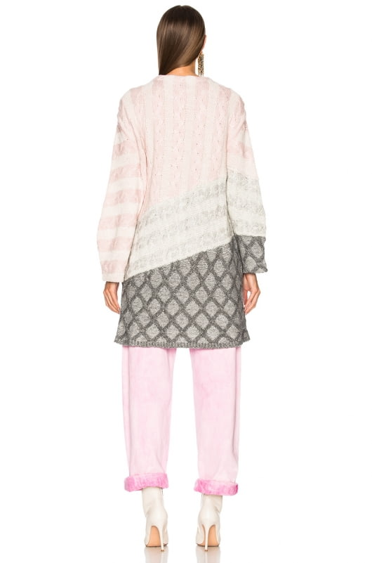 Prabal Gurung Curved Sleeve Cable Cardigan