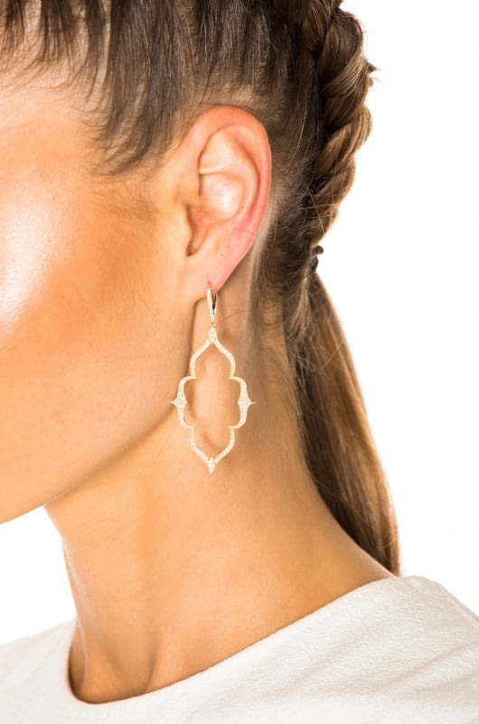 Stone Paris Moon River Earrings