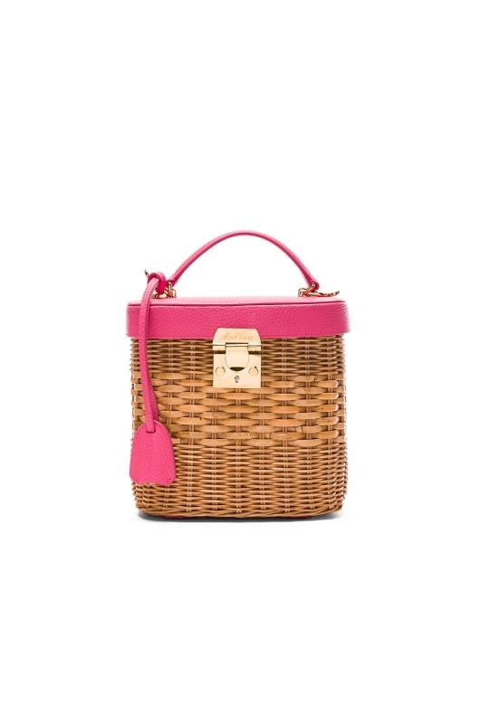 Mark Cross Benchley Rattan Bag