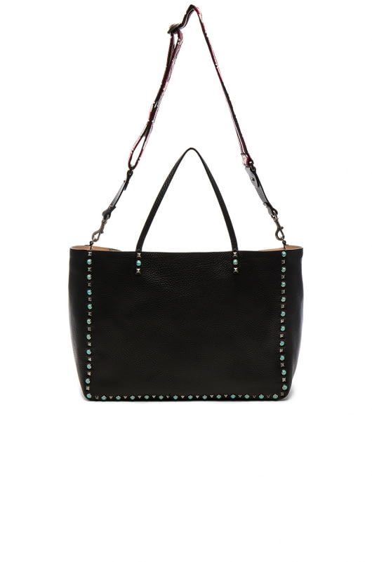 Valentino Guitar Rockstud Rolling Double Large Tote