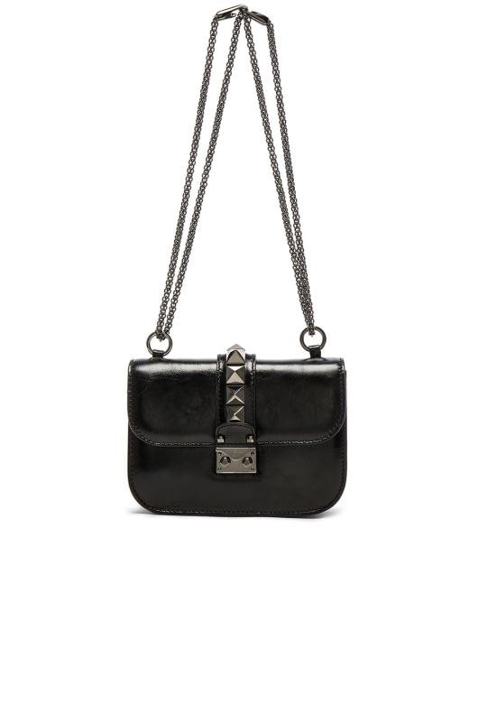 Valentino Noir Small Lock Shoulder Bag