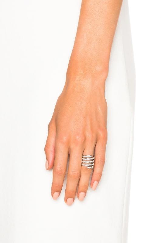 Lynn Ban Pave Coil Ring