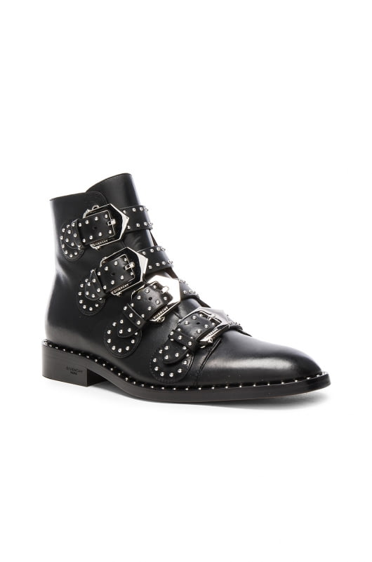 Givenchy Elegant Studded Leather Ankle Boots