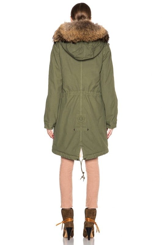 Mr & Mrs Italy Army Parka With Coyote & Raccoon Fur