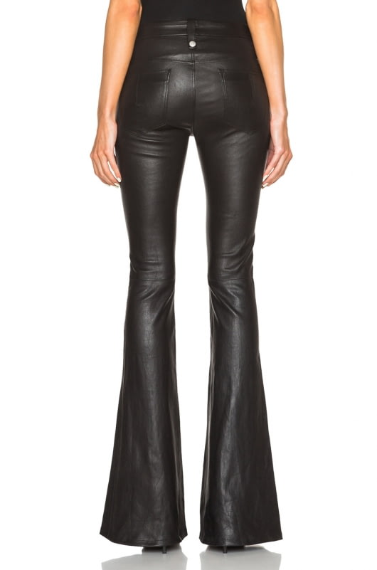 Unravel Lace Front Flare Leather Pants