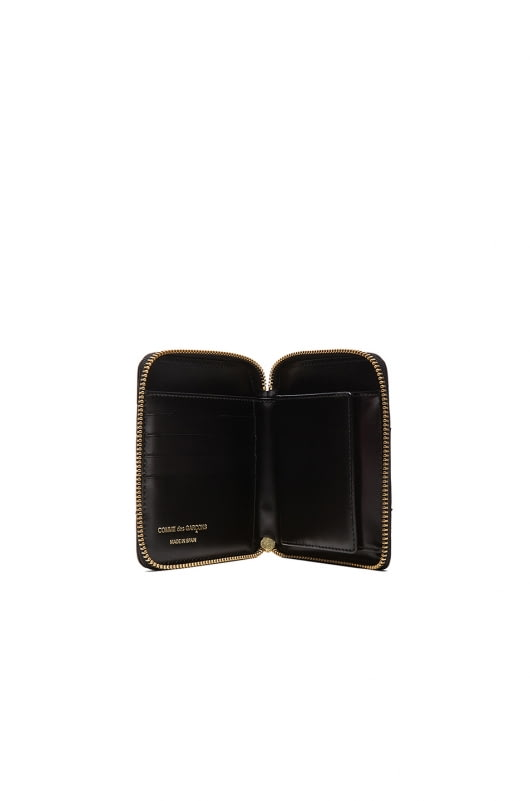 Comme Des Garcons Raised Spike Zip Fold Wallet