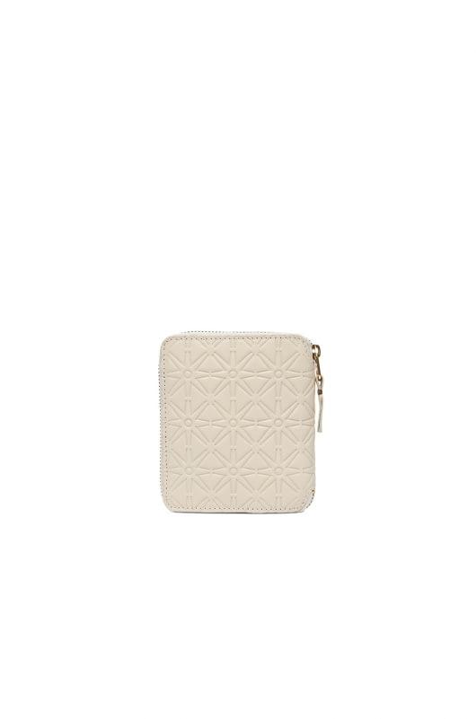 Comme Des Garcons Star Embossed Zip Fold Wallet