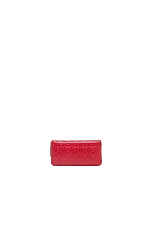 Comme Des Garcons Star Embossed Long Wallet