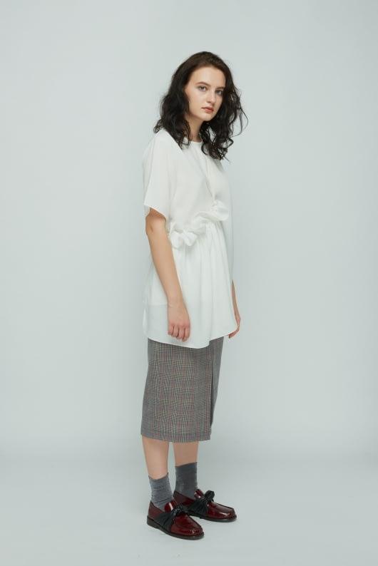 Shopatvelvet White Petal Top